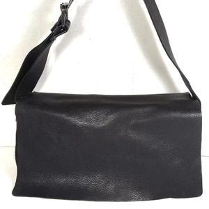 Banana Republic Black Soft Pebbled Leather Bag